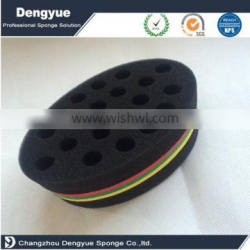 Oval Double Side Brush Sponge for Dreads Locking Coil Afro Curl Wave Tool
