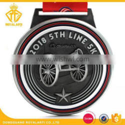 High Quality Zinc alloy 3D Relief Medal for 2018 5th Line 5K