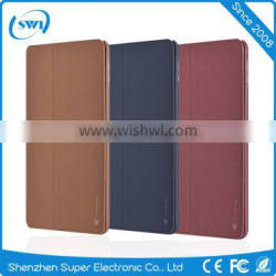 Anti-shock PC Back Shell Smart Phone Stand Leather Case for iPad mini4 with Sleep Wake