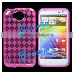 rose pink Soft TPU Gel Crystal Jelly Case Cover for htc sensation xl 21