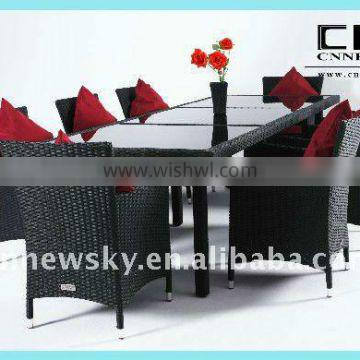 2013 outdoor rattan dining table and chair /outdoor furniture