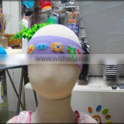 custom knitwear cotton sports cooling flower baby head band