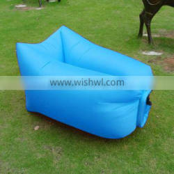 Air Bed 230*70cm With Side Pocket Air Lounger Sofa Bed Camping Lazy Bag Laybag