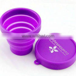 Factory wholesale 170ml Custom Branded silicone collapsible cup