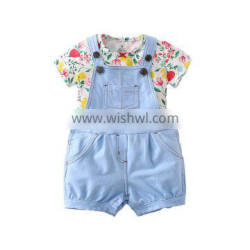 Latest design baby girl clothes shirt and pants sets kids fashion clothes