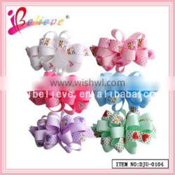 Friendly curly ribbon handmade hair accessories craft flower french barrette hair clips wholesale ribbon bow