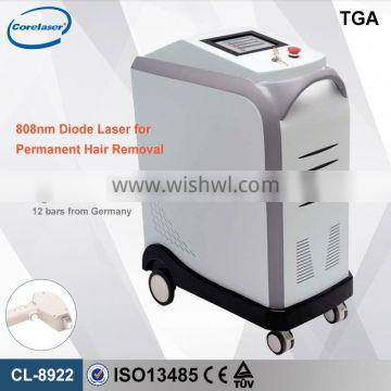 808nm diode laser handle micro-channel cooling system real Germany Bar 808nm Permanent Diode Laser Hair Removal