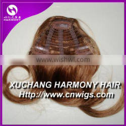 Indian remy hair clip on bangs/remy clip on hair extension bangs/indian remy hair clips in bangs