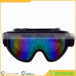 Motorcycle Cycling Mountain Climbing Skiing Protection Glasses Goggle Windproof Outdoor Sports Sunglasses Safety Goggles Black F