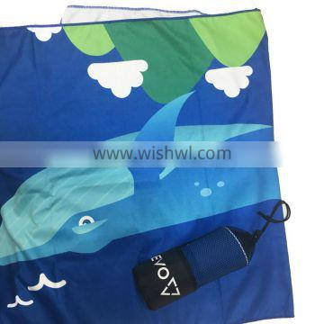 80 polyester 20 polyamide suede microfiber sports towel with mesh bag