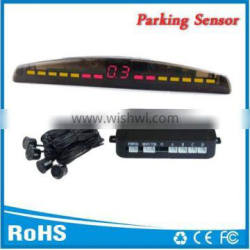 4 rear sensors Wired parking reverse backup sensor with 3 color LED dispaly Alarm by Bibi sound Good price and Easy install