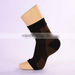 Copper Compression Recovery Foot Sleeves Plantar Fasciitis Support Socks#YLW-03