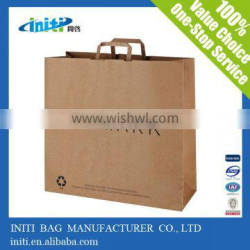 2016 Manufacturers Luxury New Design Raw Material Brown Paper Shopping Bag
