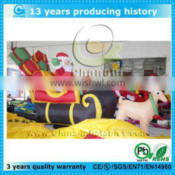 Cheap outdoor inflatable christmas santa in train,outdoor lighted christmas train,outdoor inflatable christmas santa