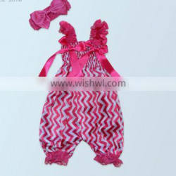 2017 summer hot sell bow tie rompers suit , headband + rompers