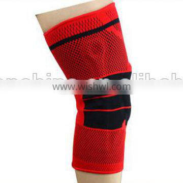 Basketball sport compression knee sleeve support with silicone pad