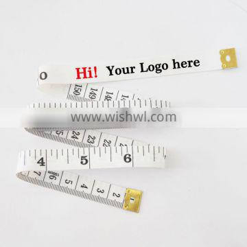 1.5m/60inch Custom brand plastic measuring tape cheap with Your Logo