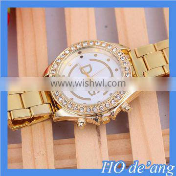 HOGIFT Hot Fashion Women's Crystal Stainless Steel Watch