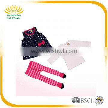 3Pcs 0-9 months old baby girl clothes