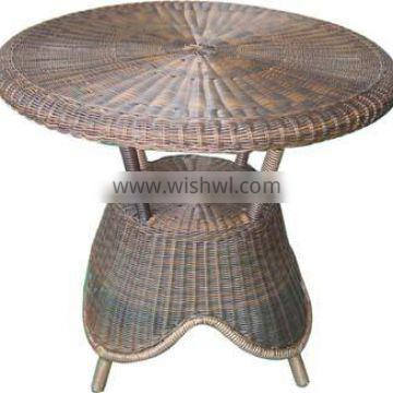 hot sale outdoor rattan table 100% hand woven