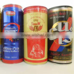 China manufacturer of hot sale tinplate empty beer can