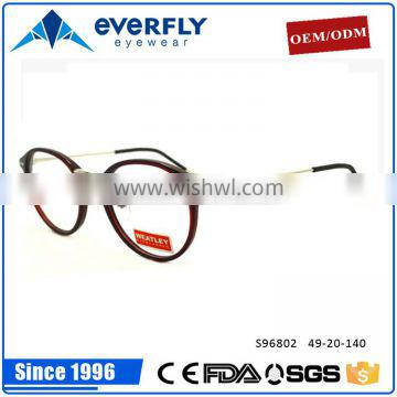 2016 New collection design brand fashion acetate metal mixed optical frames with factory price