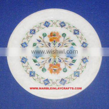 Handcrafted Marble Inlay Plate Home Decorative Plate