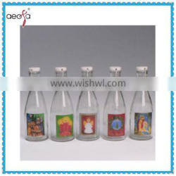 250ml new round clear swing top glass bottle with stoppers