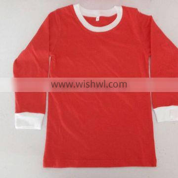 Wholesale kids and adults red/white christmas pajamas for family