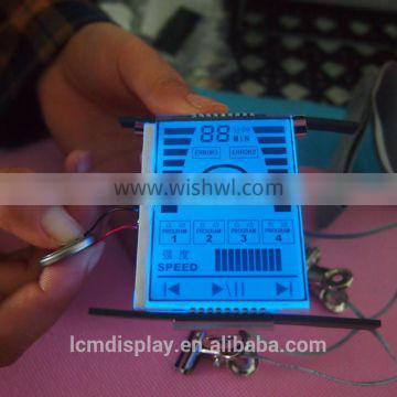 custom blue led backlight see through lcd display panel for Car Audio