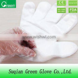 transparent hdpe/ldpe/cpe/tpe disposable glove