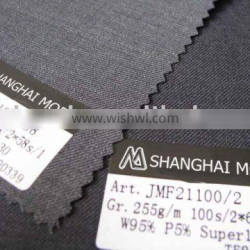 blended worsted wool fabric w95/p5 moda-t221