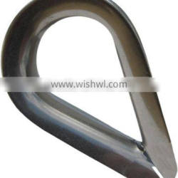 """1/8"""" Light Duty Stainless Steel Wire Rope Thimble"""