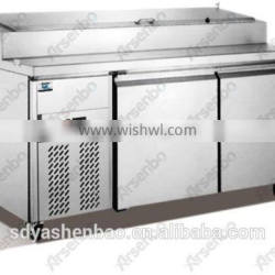 commercial stainless steel Pizza fridge/Kitchen pizza worktable refrigerator/Hotel Pizza freezer