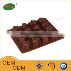 Passed SGS test star shape silicone molde do chocolate
