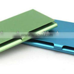 colorful metal business card holder /aluminum name card case