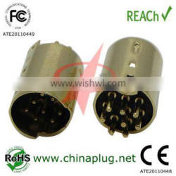 Din male connector of 8 pin din connector female for din socket