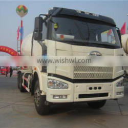best quality diesel euro4 6x4 FAW 10 cubic meters concrete mixer truck