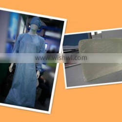 Hot melt pressure sensitive adhesive for Surgical Gown