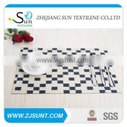 Hot sale grid black and white PVC placemat made in China