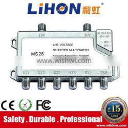Hot sale 2 in 6 Multiswitch with Zinc alloy crust