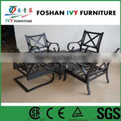 Garden cast aluminium dining table and chairs patio furniture