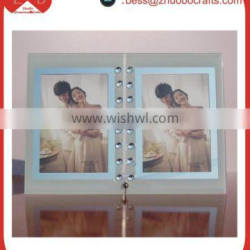 """New style 5"""" family tree crystal glass picture frame 20*25"""
