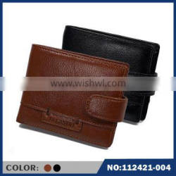 2015 new Anti-degaussing genuine leather men crazy horse Materials folding wallet
