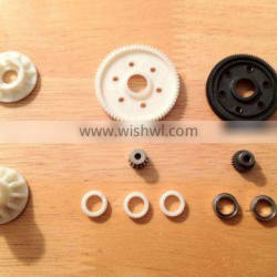 OEM durable plastic double spur gear with CNC hobbing