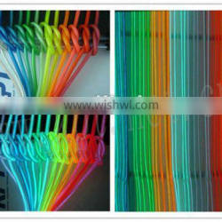 High brightness and flash 4.0mm colorful el wire