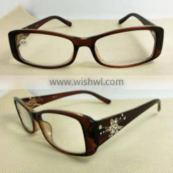 2014 best selling woman reading glasses with diamond