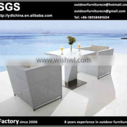 all weather SGS HDPE rattan wicker outdoor table and chairs set