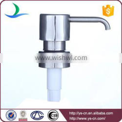 High quality glass soap bottle bent pipe 304 stainless steel foam pump