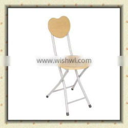 metal tube with round seat board folding wooden garden chair BS-109